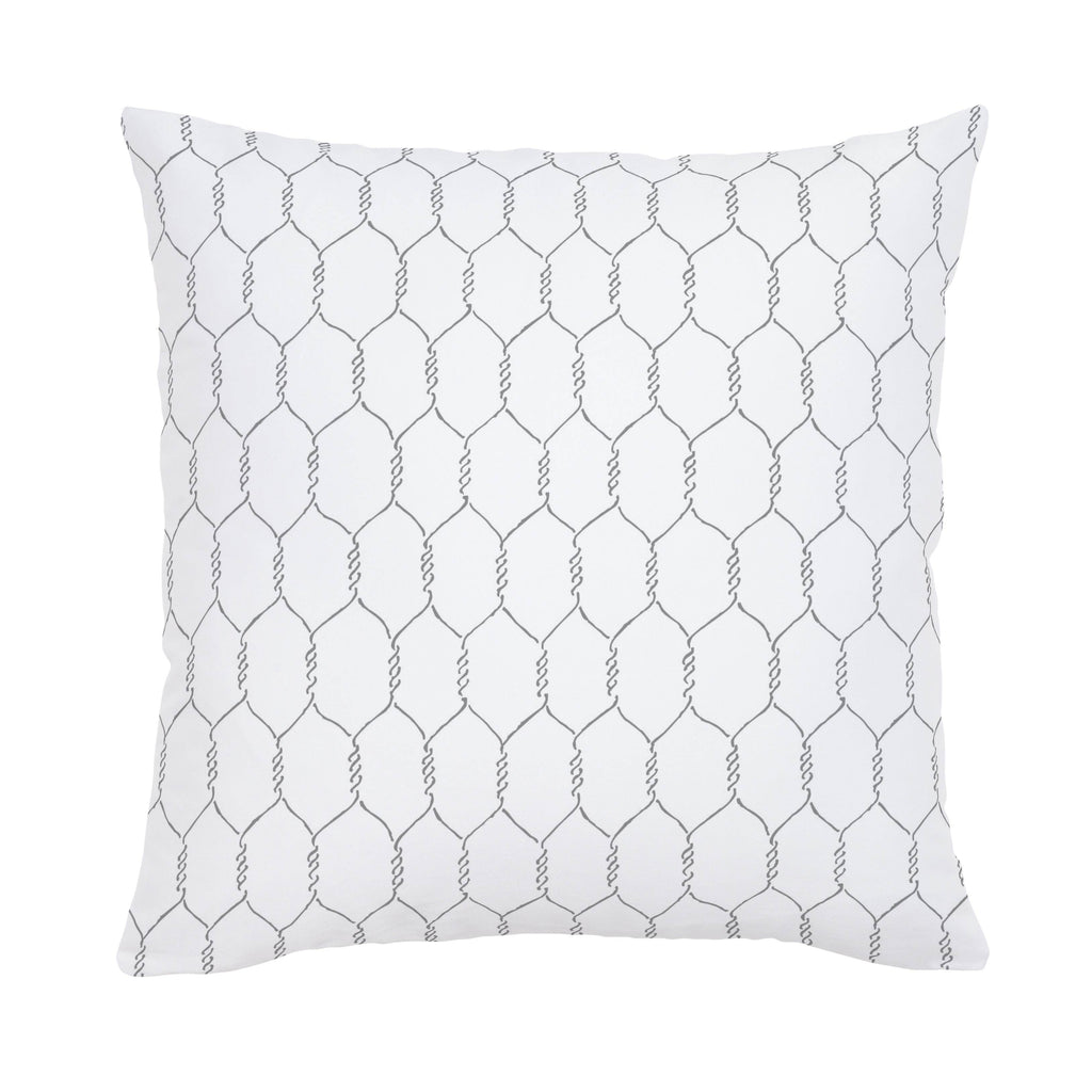 Product image for Gray Farmhouse Wire Throw Pillow