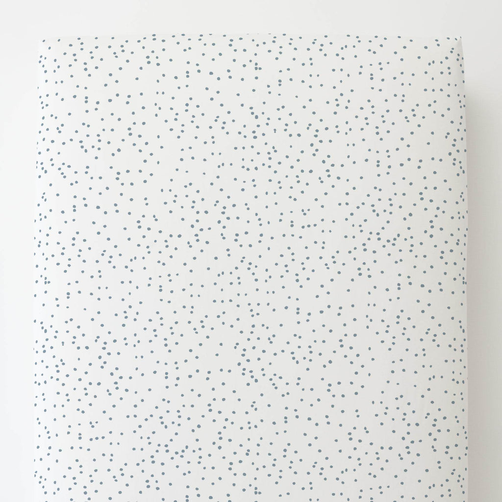 Product image for Steel Blue Snowfall Toddler Sheet Bottom Fitted
