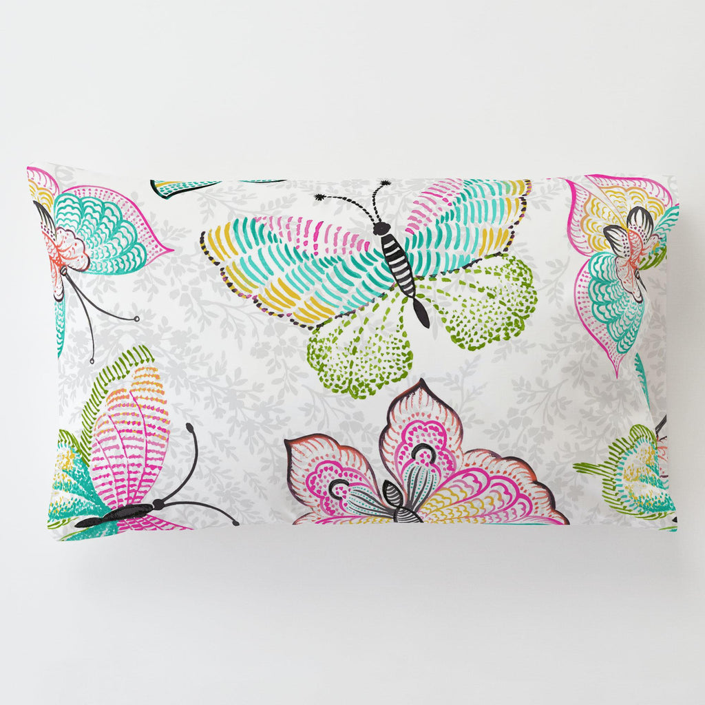 Product image for Bright Damask Butterflies Toddler Pillow Case with Pillow Insert