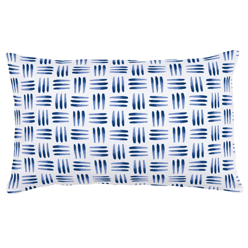 Product image for Blue Basket Lumbar Pillow