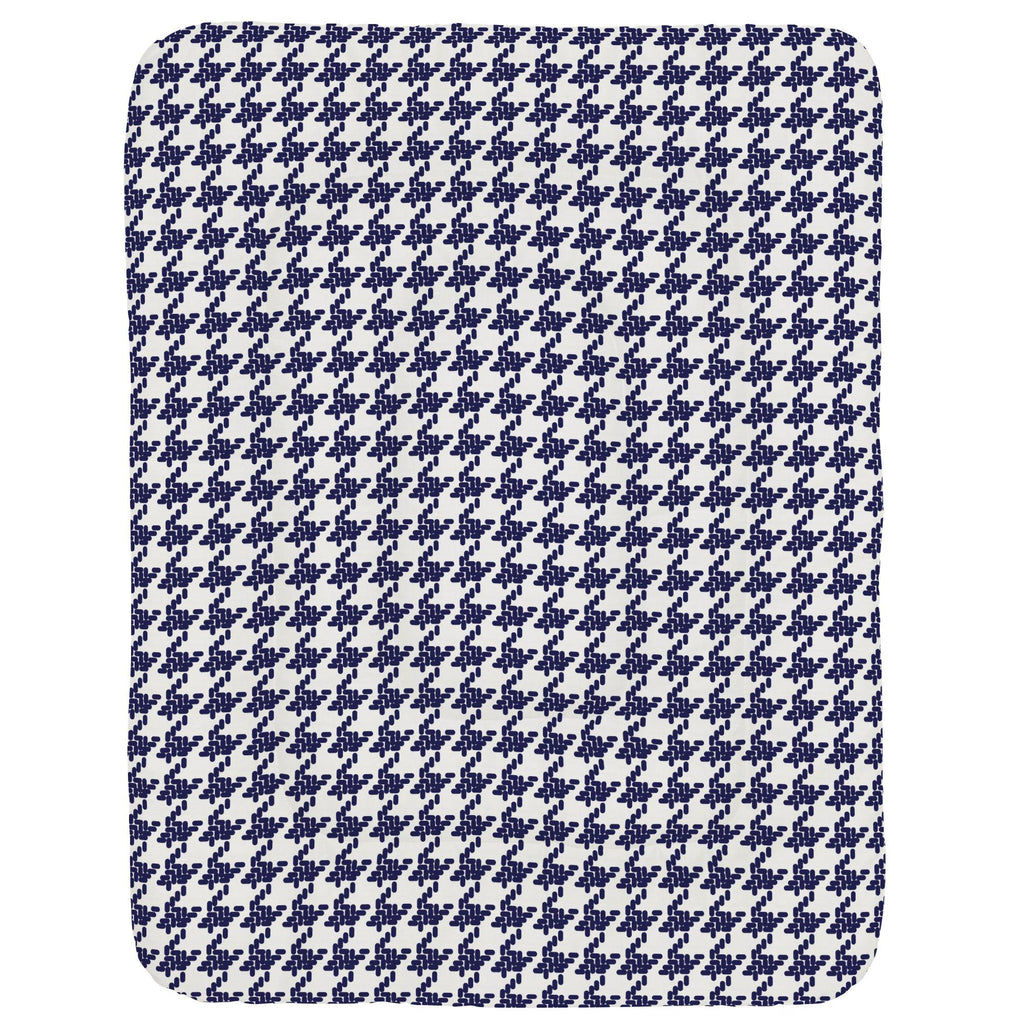 Product image for Windsor Navy Modern Houndstooth Crib Comforter