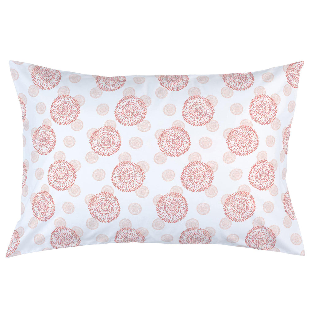 Product image for Light Coral and Peach Dandelion Pillow Case