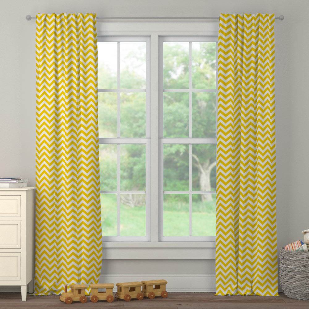 Product image for Yellow Zig Zag Drape Panel