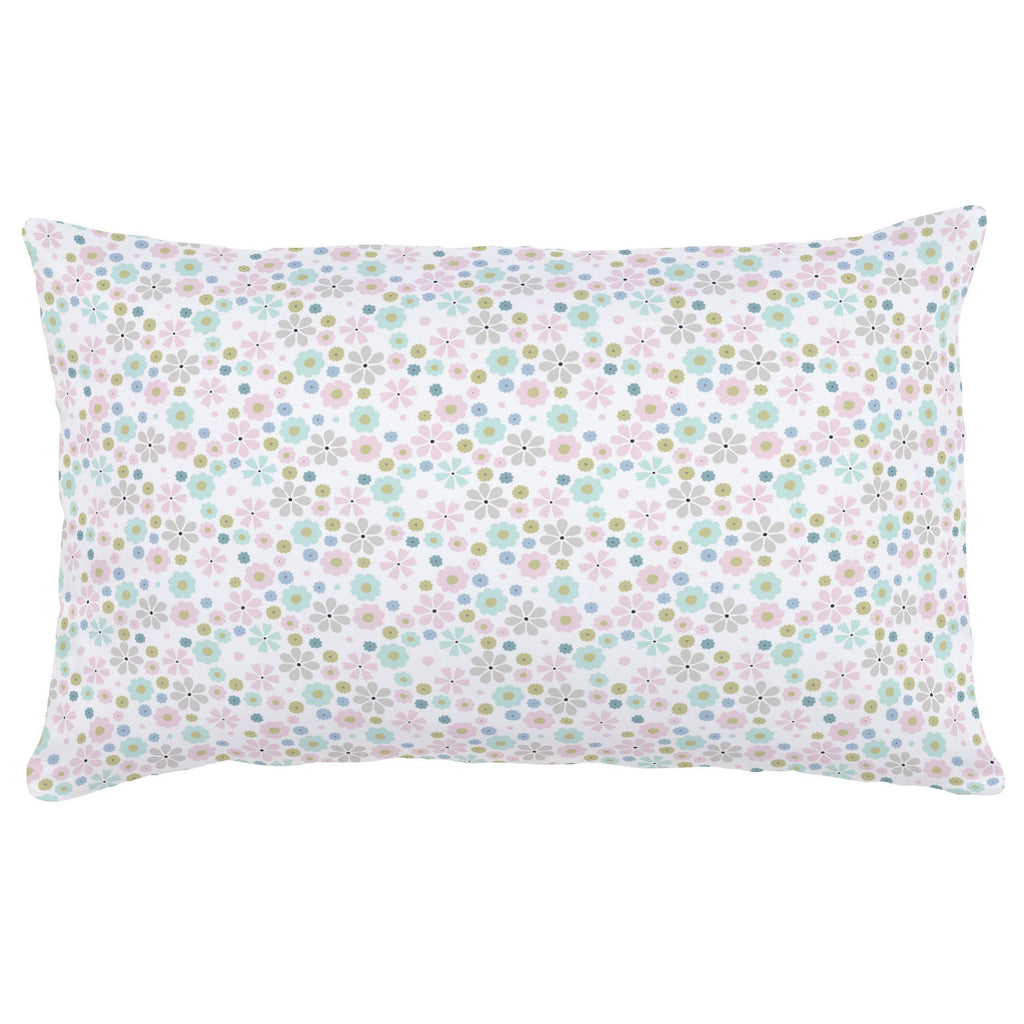 Product image for Pink Spring Flowers Lumbar Pillow