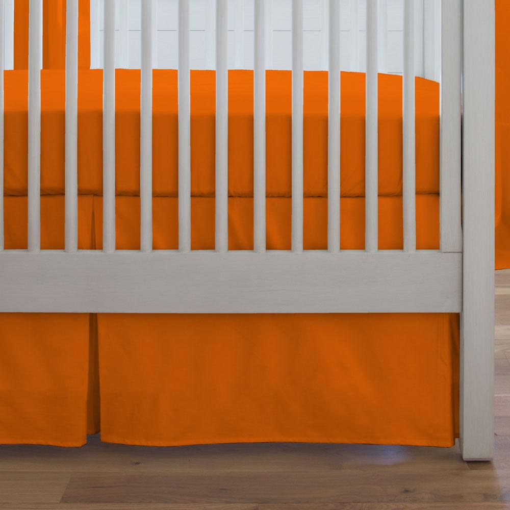 Product image for Solid Orange Crib Skirt