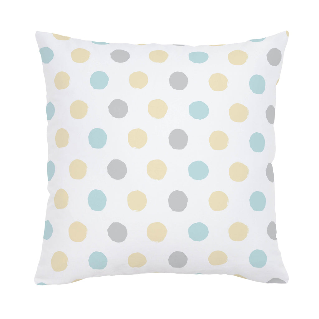 Product image for Mist and Gray Brush Dots Throw Pillow