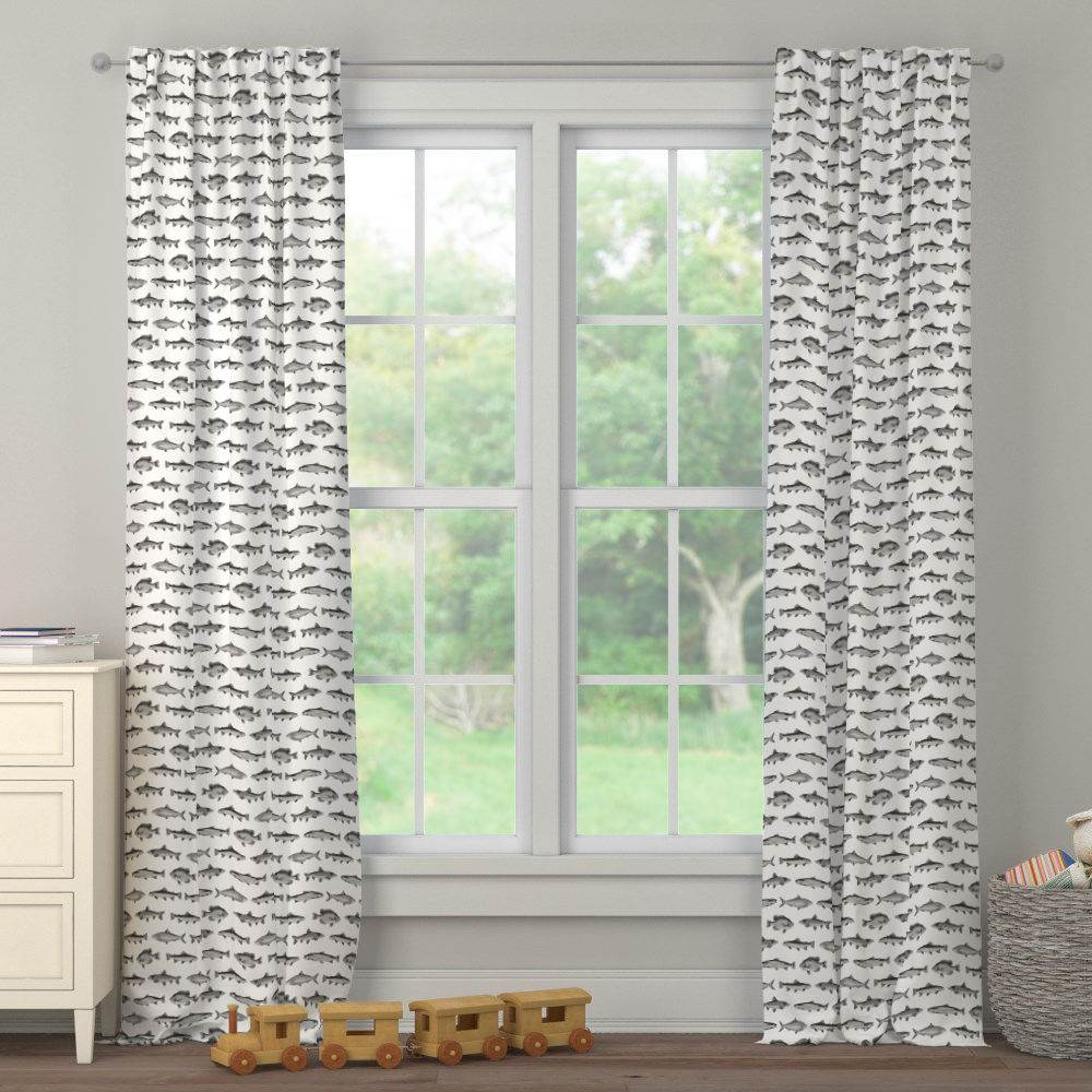 Product image for Gray Fish Drape Panel