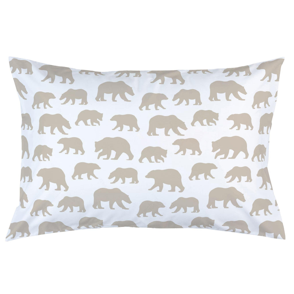 Product image for Taupe Bears Pillow Case