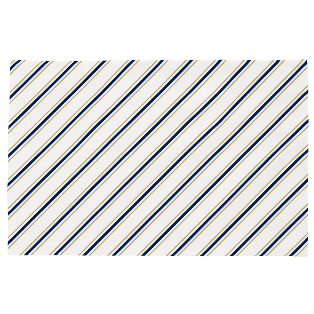 Product image for Tan and Navy Necktie Stripe Toddler Pillow Case