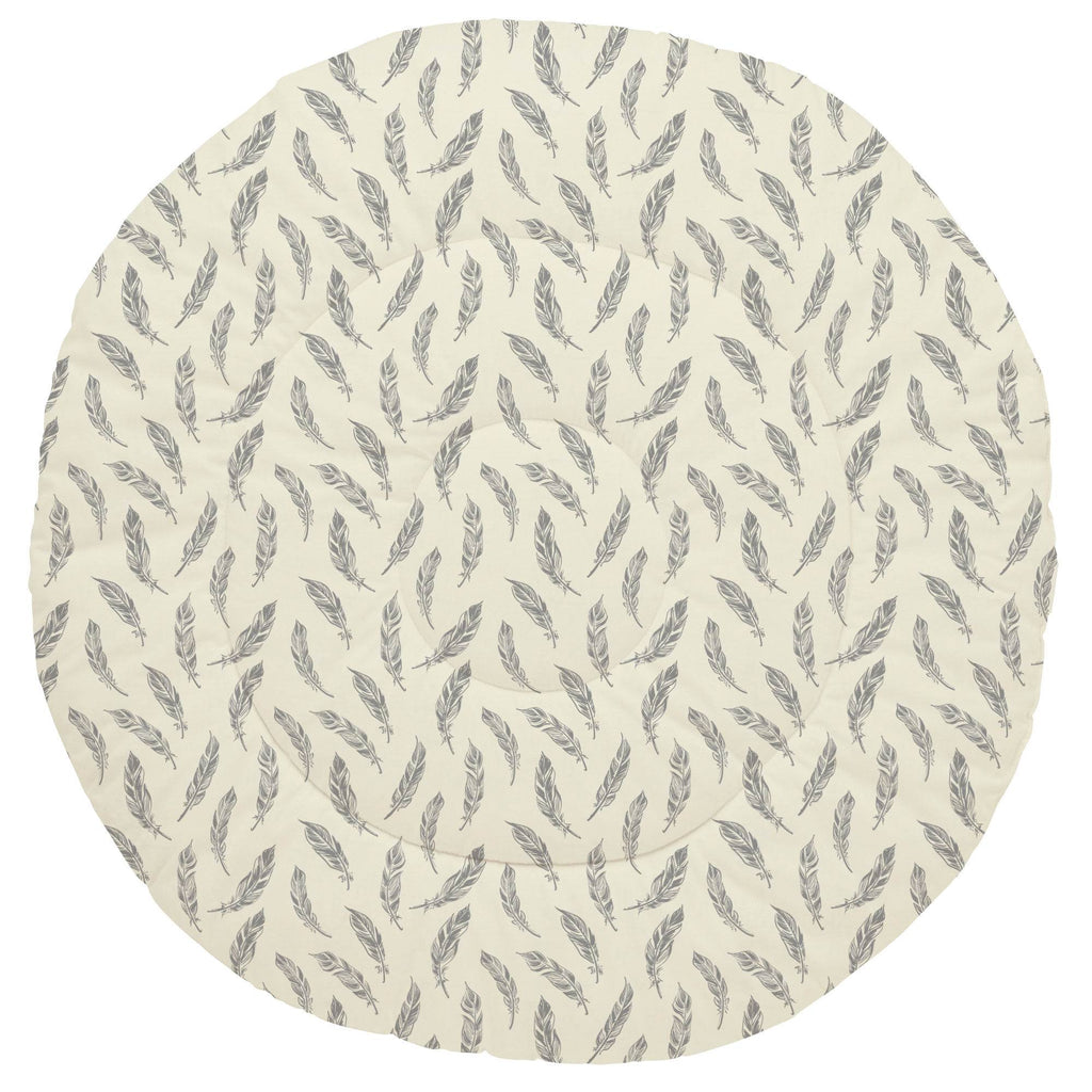 Product image for Natural Gray Feathers Baby Play Mat