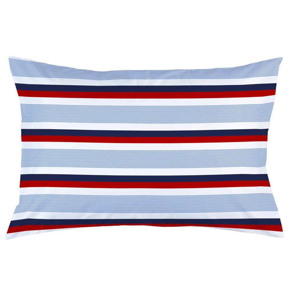 Product image for Red and Blue Stripe Pillow Case