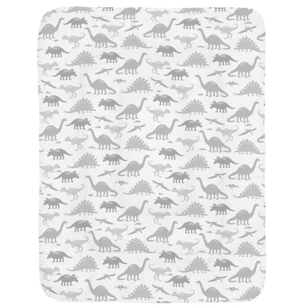 Product image for Gray Dinosaurs Crib Comforter