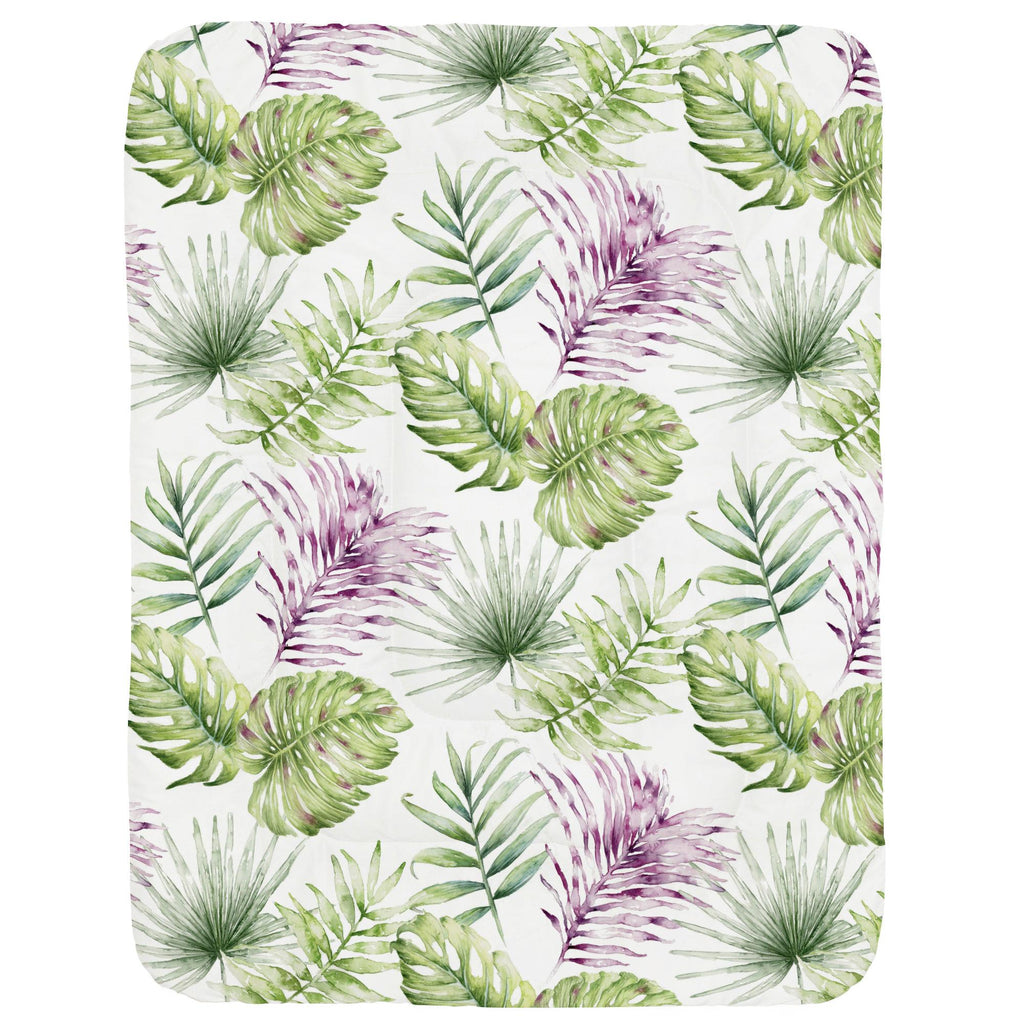 Product image for Purple Painted Tropical Crib Comforter