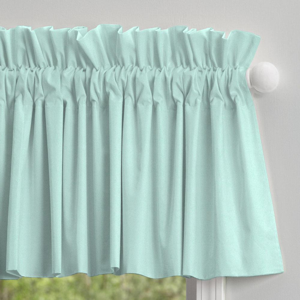 Product image for Solid Seafoam Aqua Window Valance