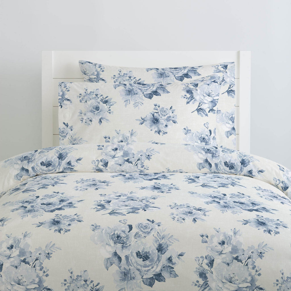 Product image for Blue Farmhouse Floral Duvet Cover