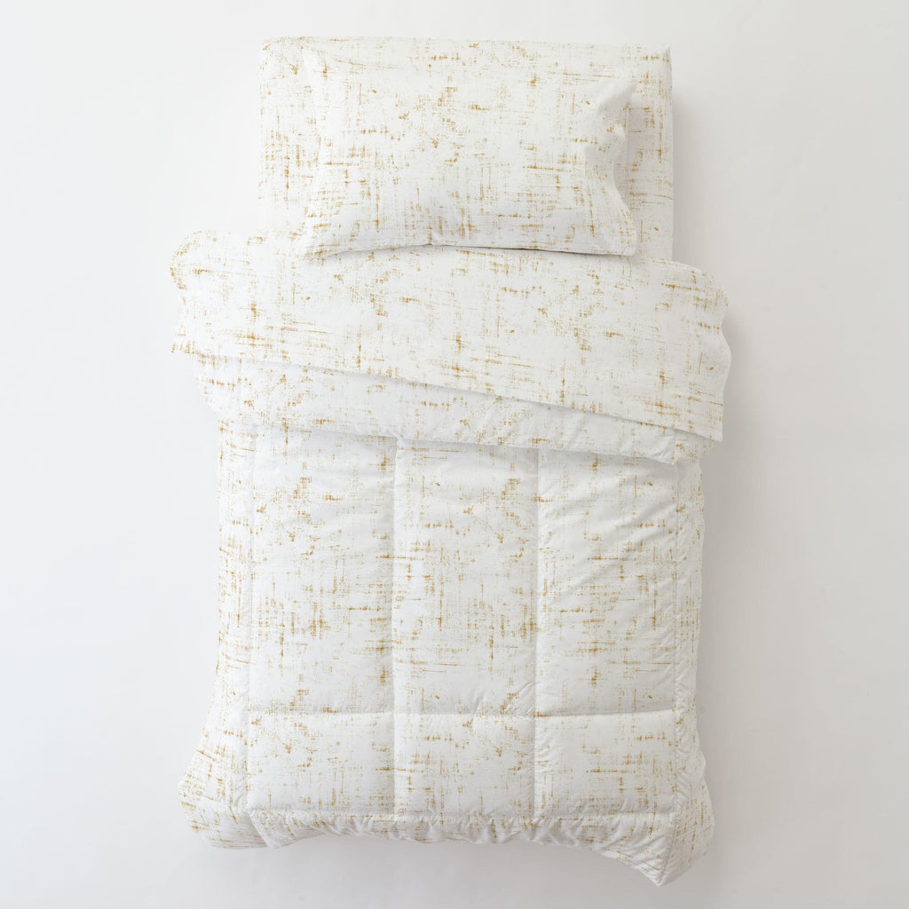Product image for Mustard Distressed Toddler Comforter