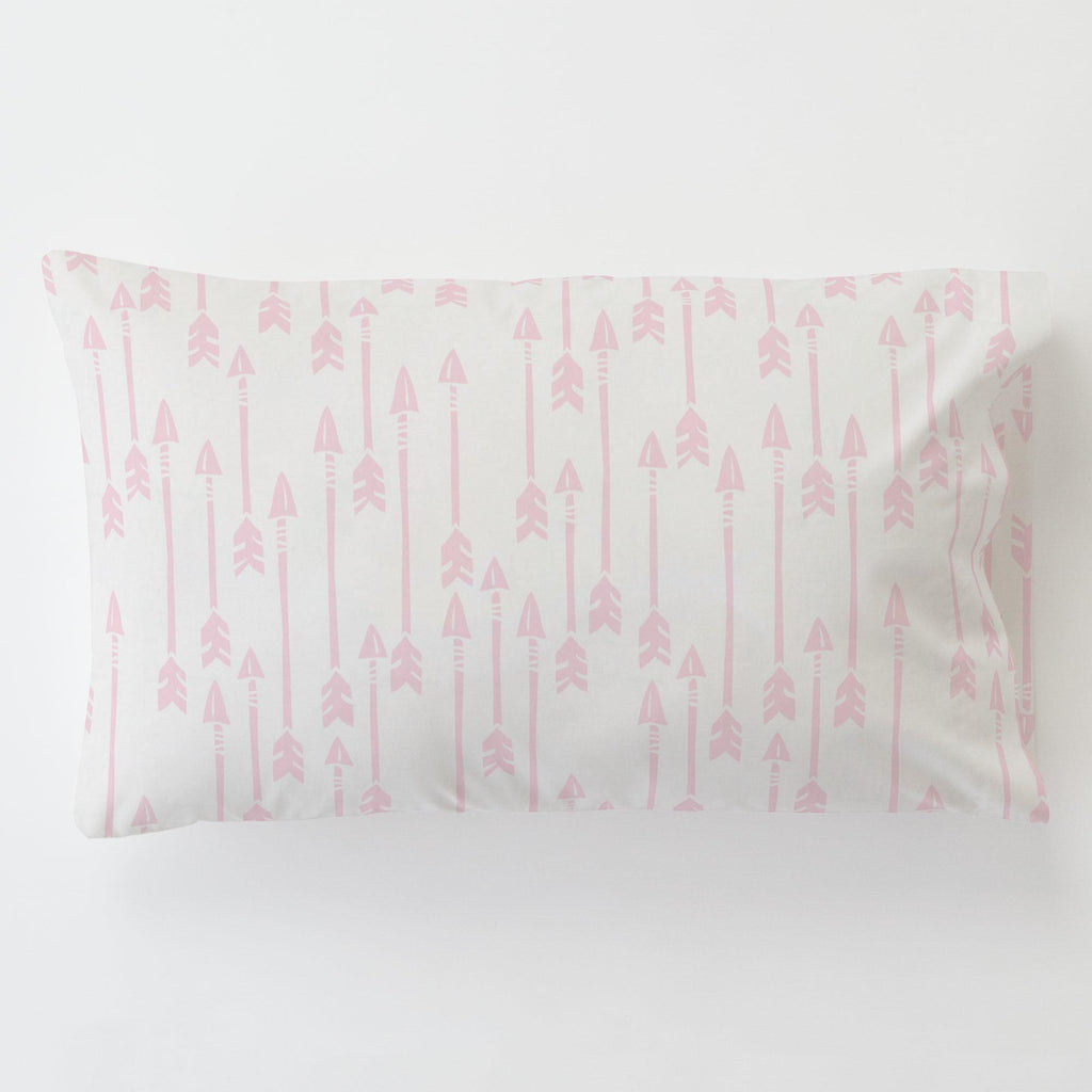 Product image for Pink Flying Arrow Toddler Pillow Case