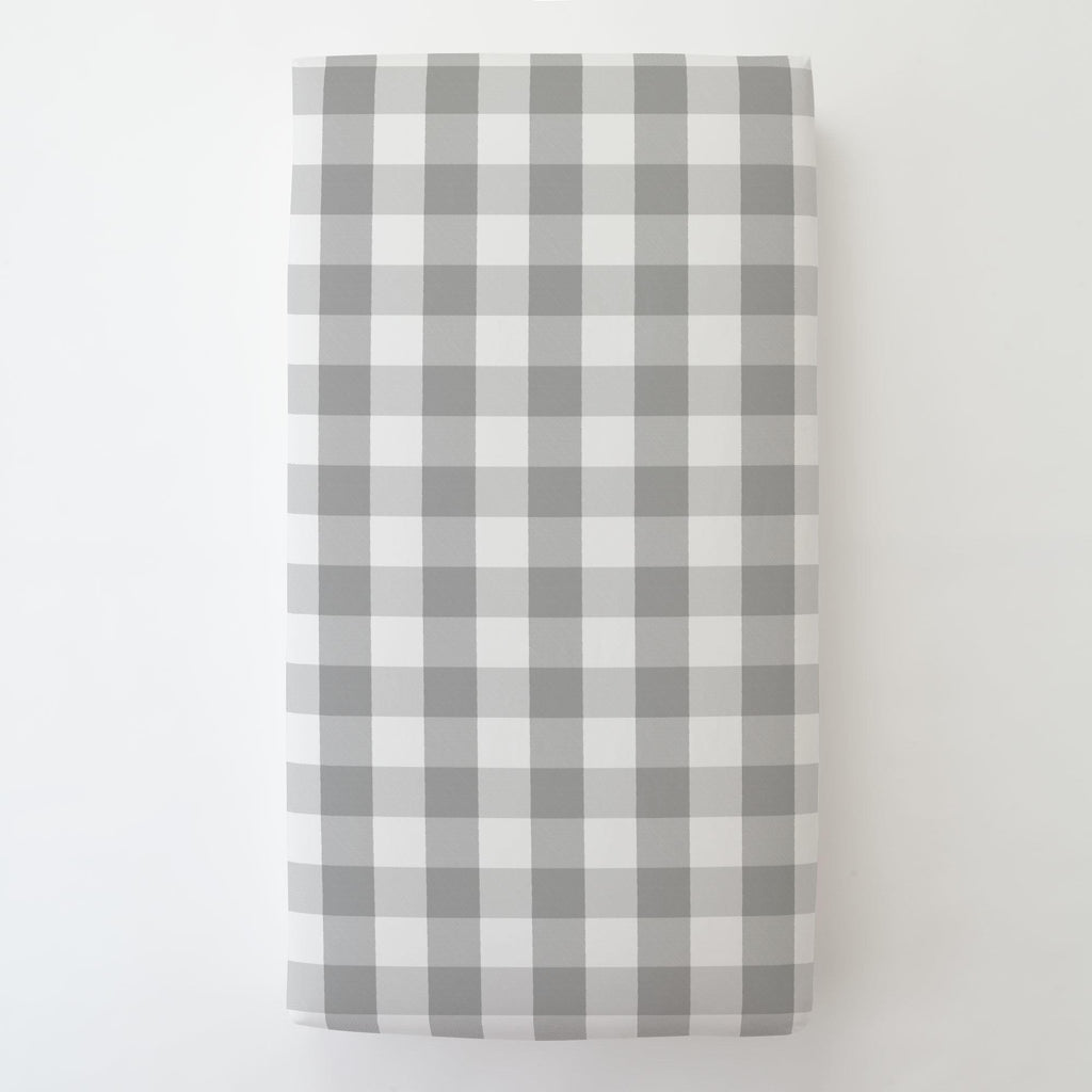 Product image for Gray Buffalo Check Toddler Sheet Bottom Fitted