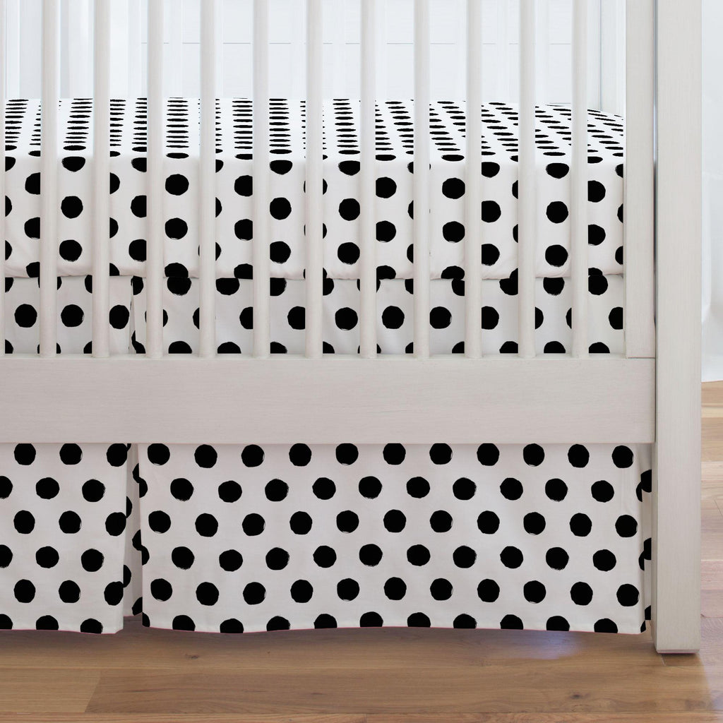 Product image for Onyx Brush Dots Crib Skirt Single-Pleat
