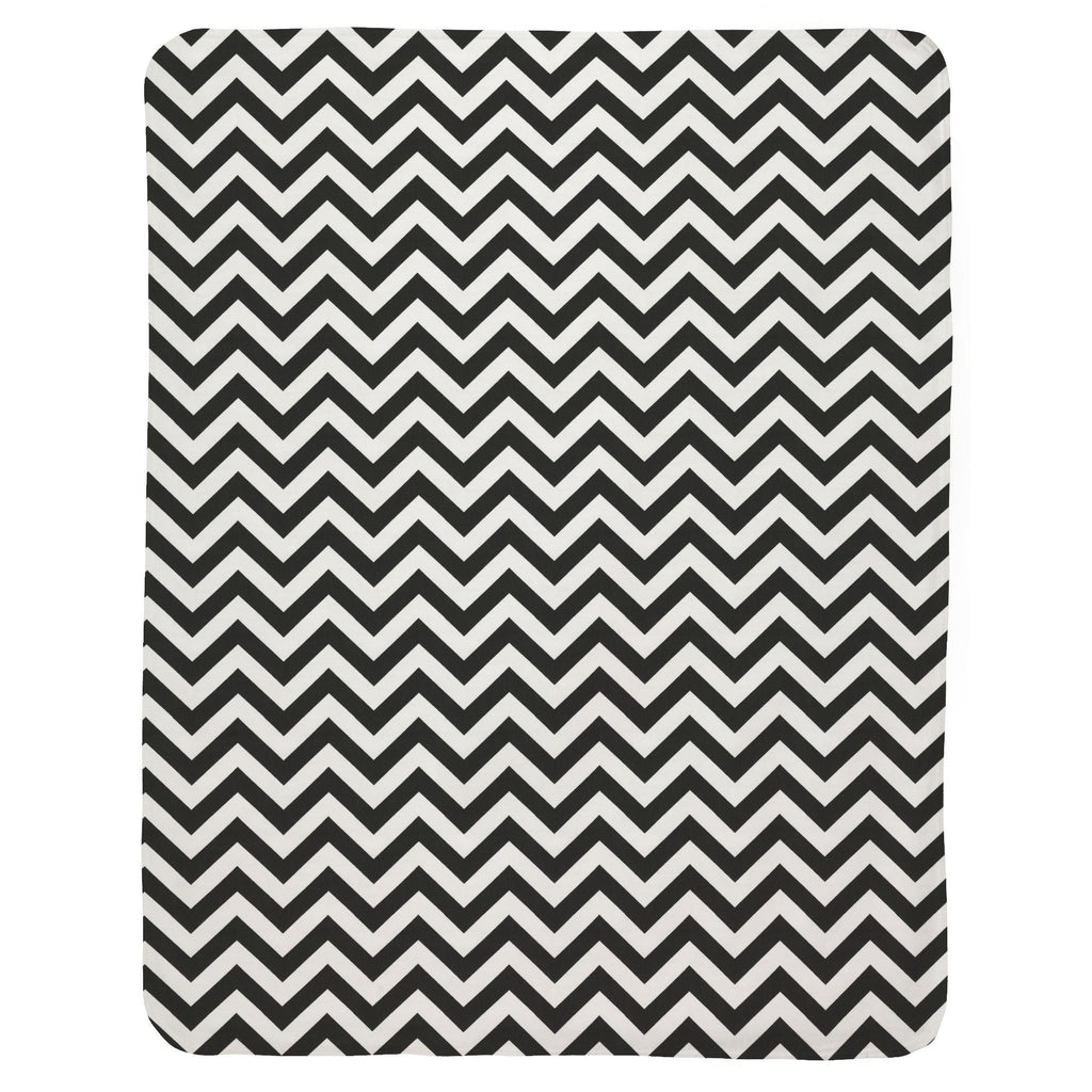 Product image for Black and White Zig Zag Baby Blanket