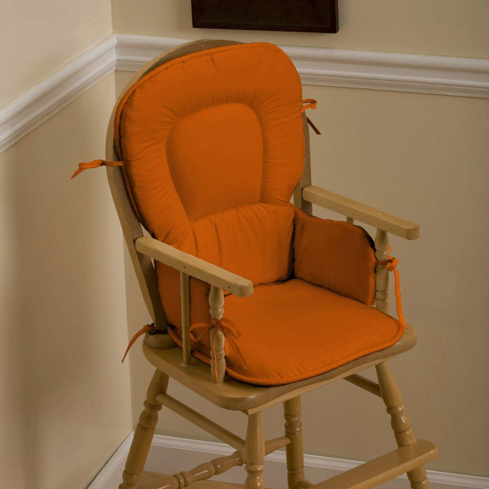 Product image for Solid Orange High Chair Pad