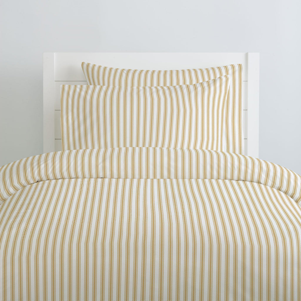 Product image for Mustard Ticking Stripe Pillow Case