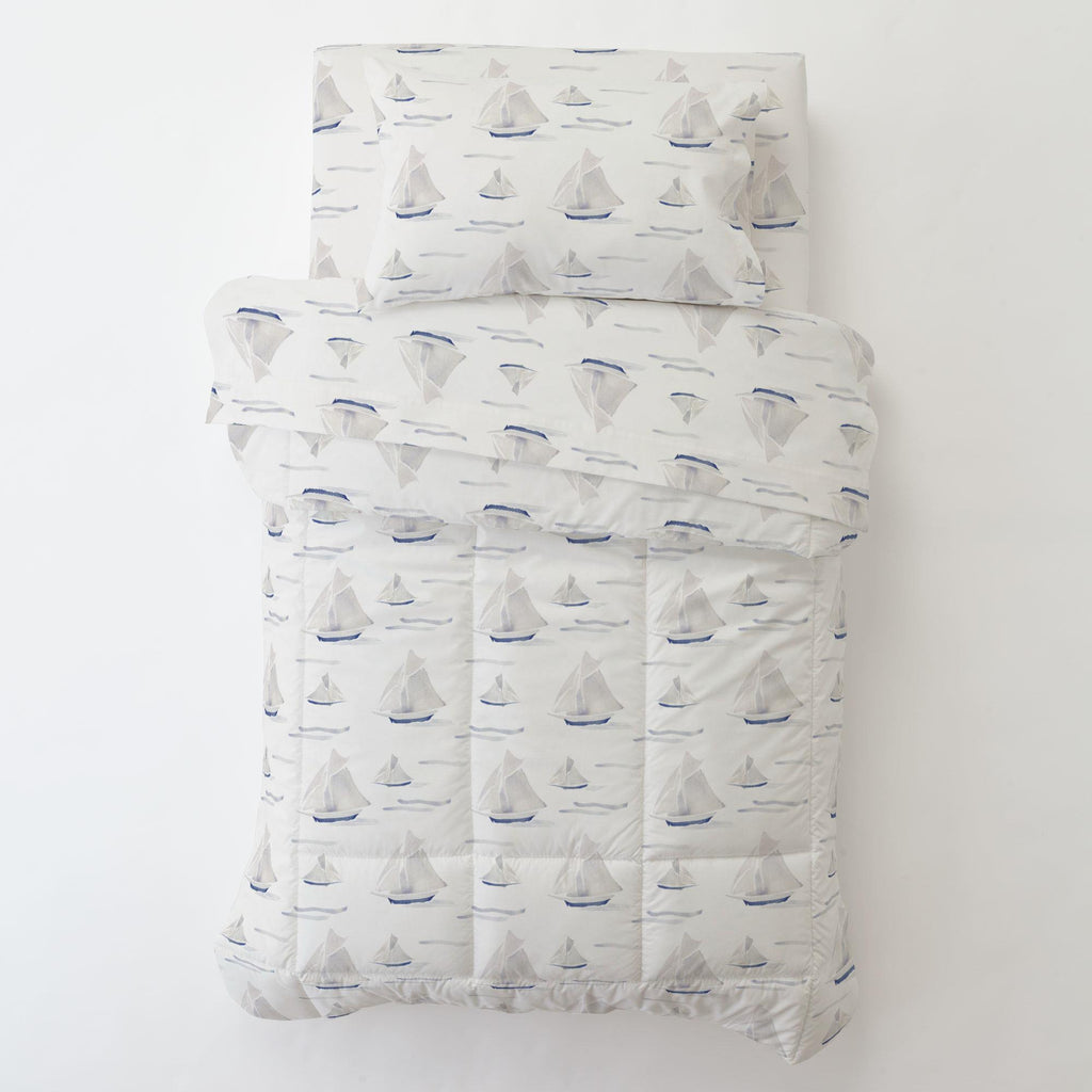 Product image for Watercolor Sailboats Toddler Pillow Case with Pillow Insert