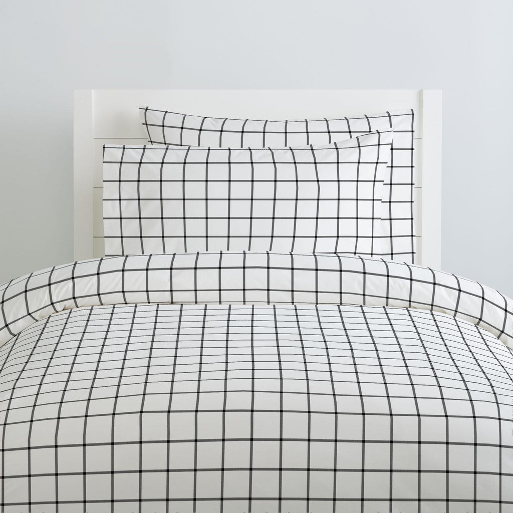 Product image for Onyx Windowpane Pillow Case