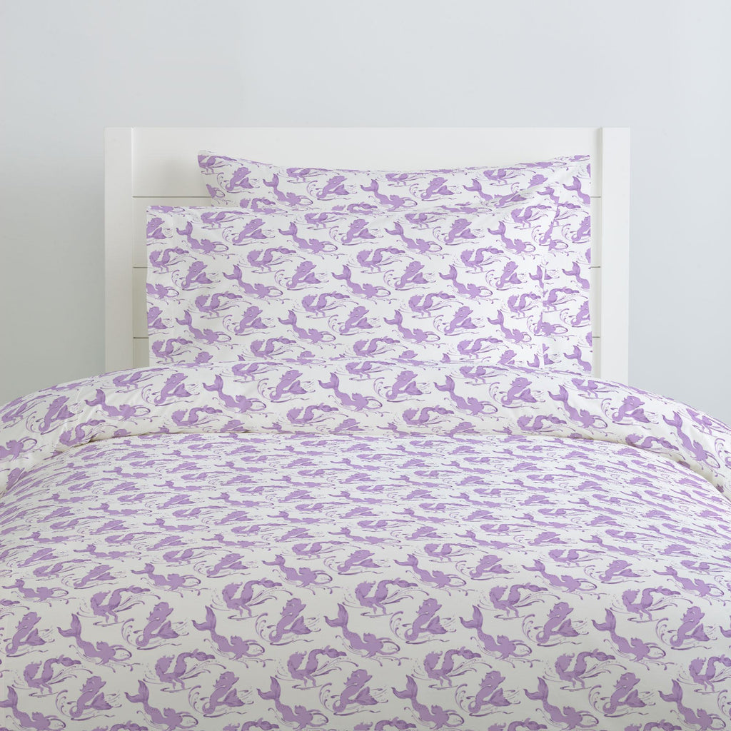 Product image for Purple Swimming Mermaids Pillow Case