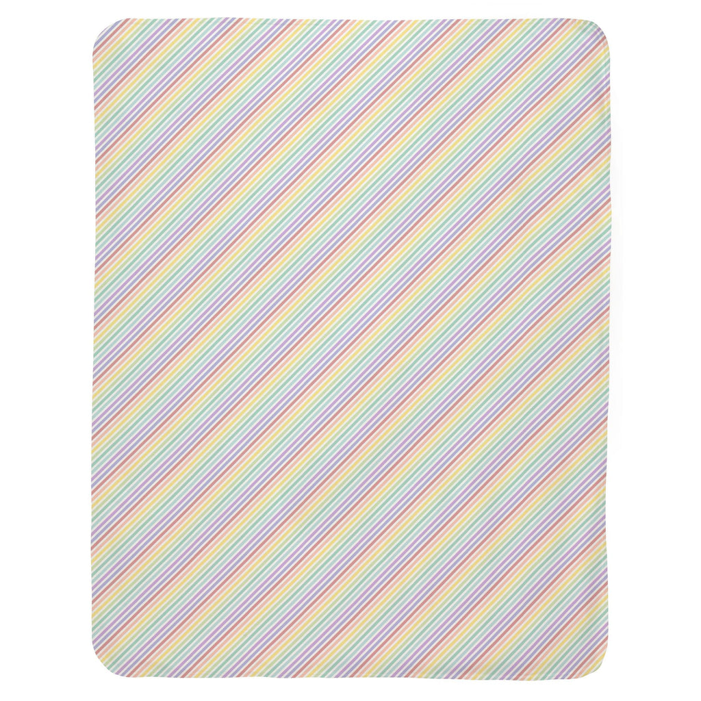 Product image for Pastel Rainbow Stripe Baby Blanket