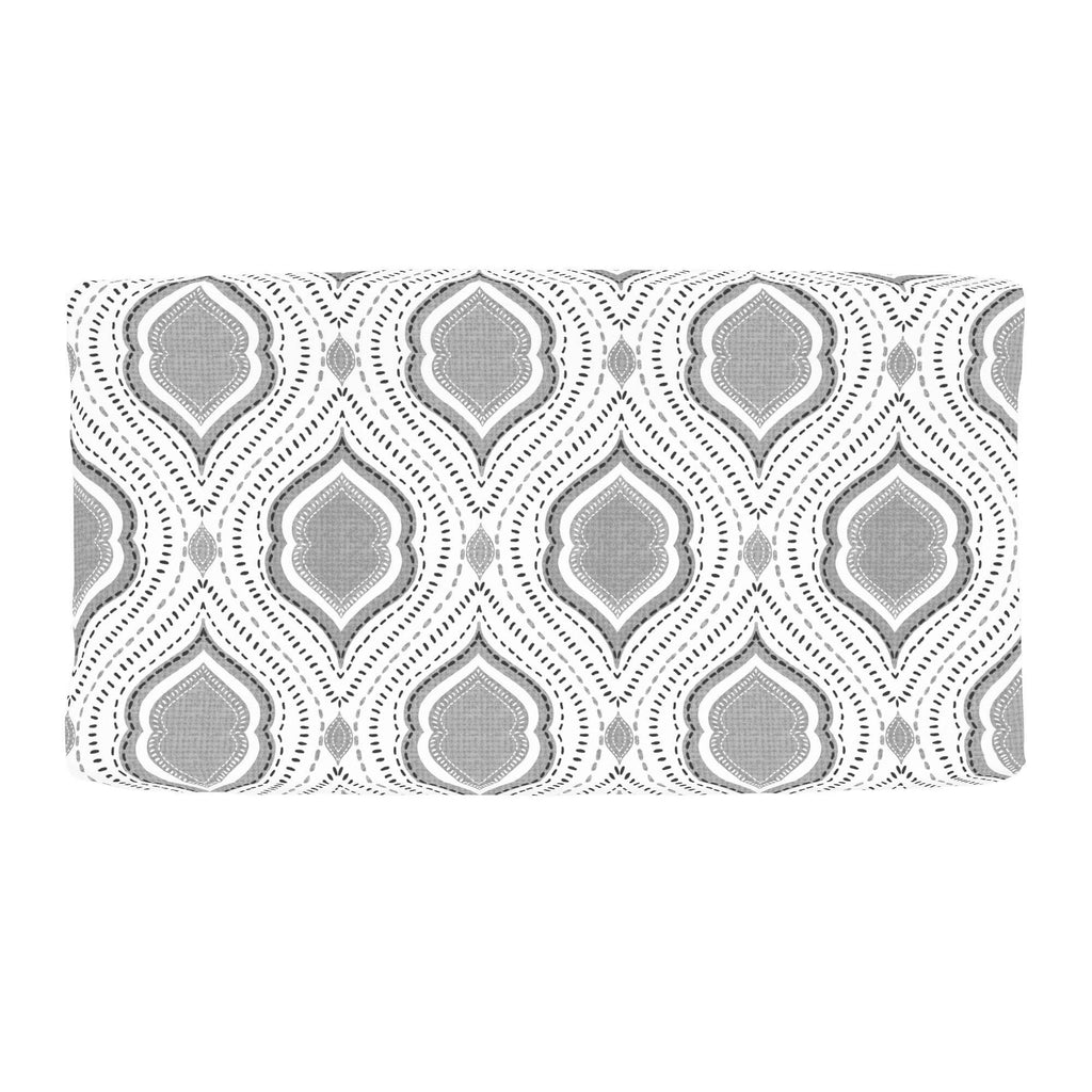 Product image for Gray Moroccan Damask Changing Pad Cover