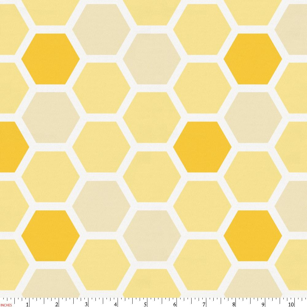 Product image for Yellow Honeycomb Fabric