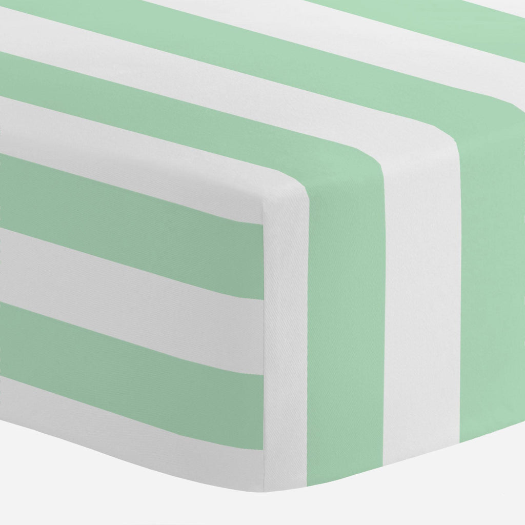 Product image for Mint Stripe Mini Crib Sheet