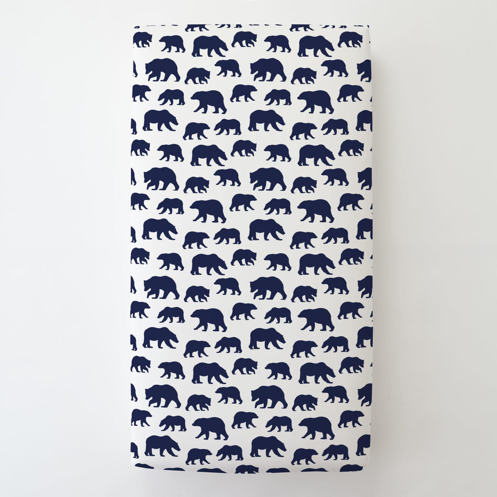 Product image for Navy Bears Toddler Sheet Bottom Fitted