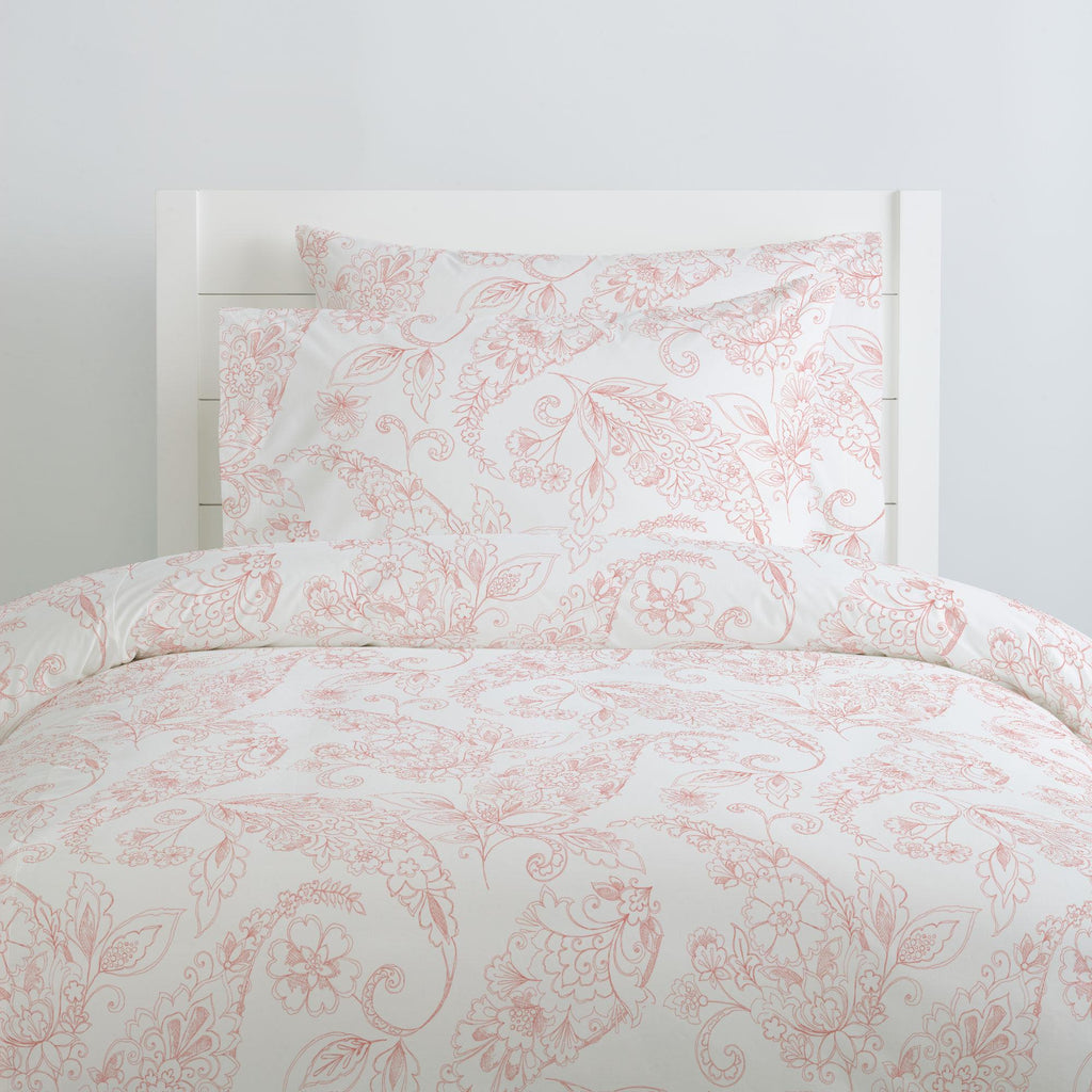 Product image for Light Coral Sketchbook Floral Pillow Case