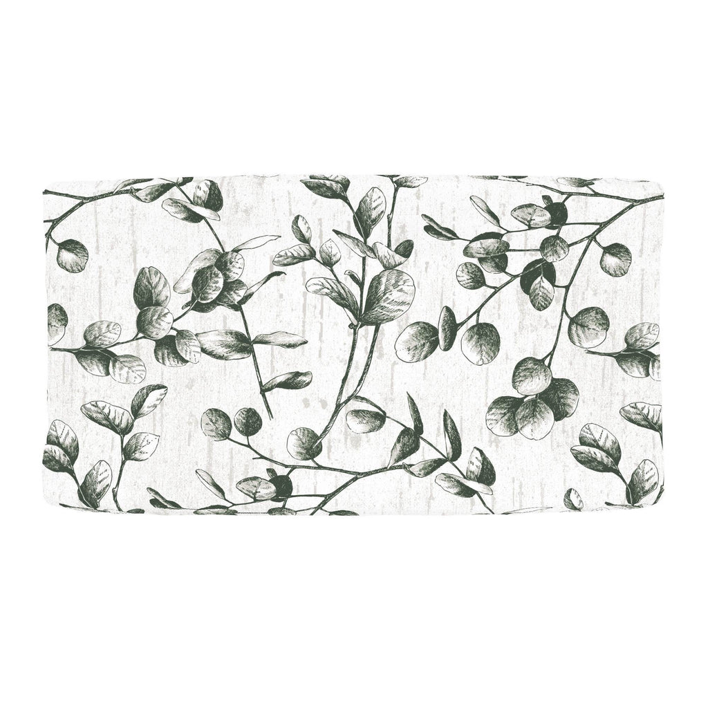 Product image for Dark Green Eucalyptus Changing Pad Cover