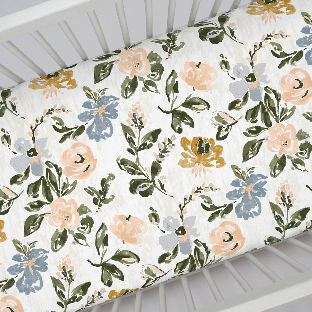 Product image for Blush Garden Crib Sheet