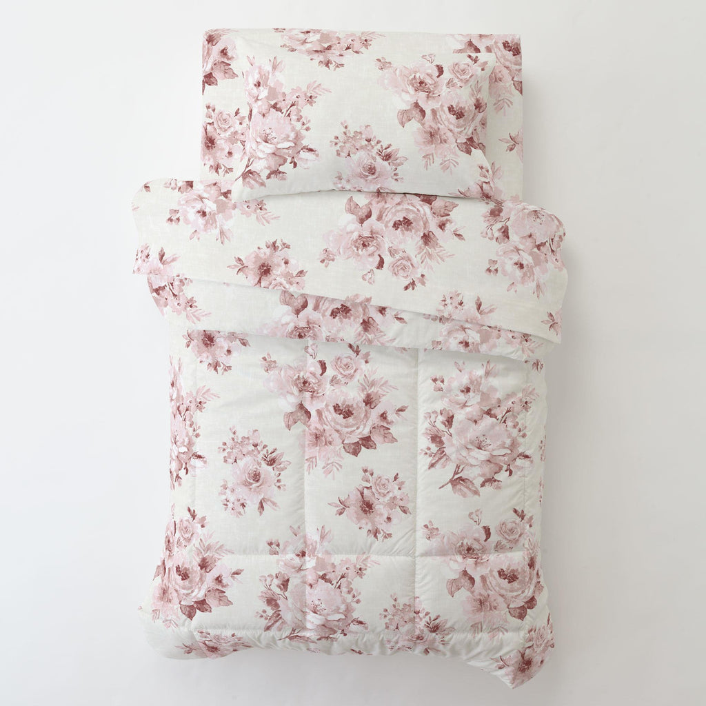 Product image for Rose Farmhouse Floral Toddler Comforter