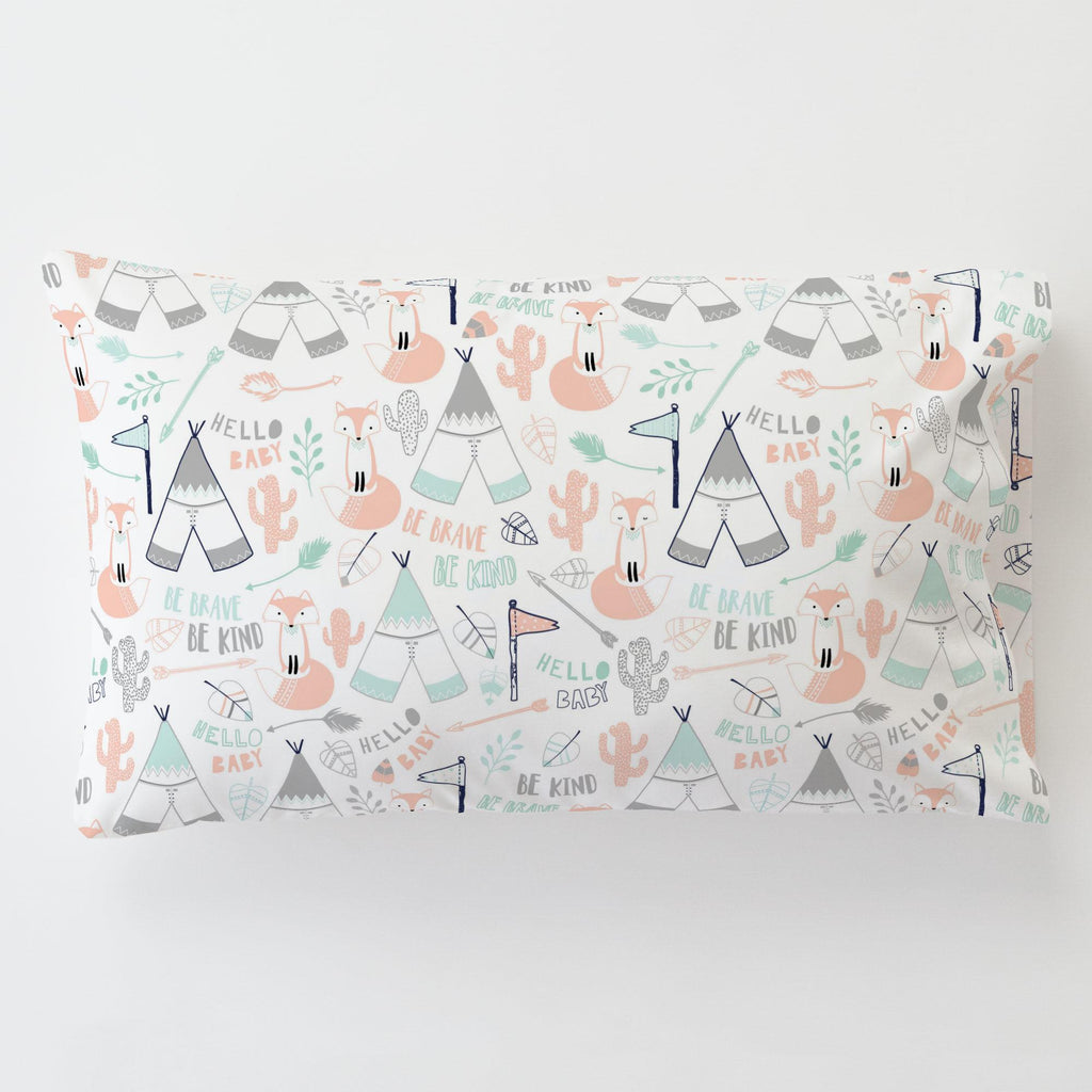 Product image for Peach Brave Fox Toddler Pillow Case