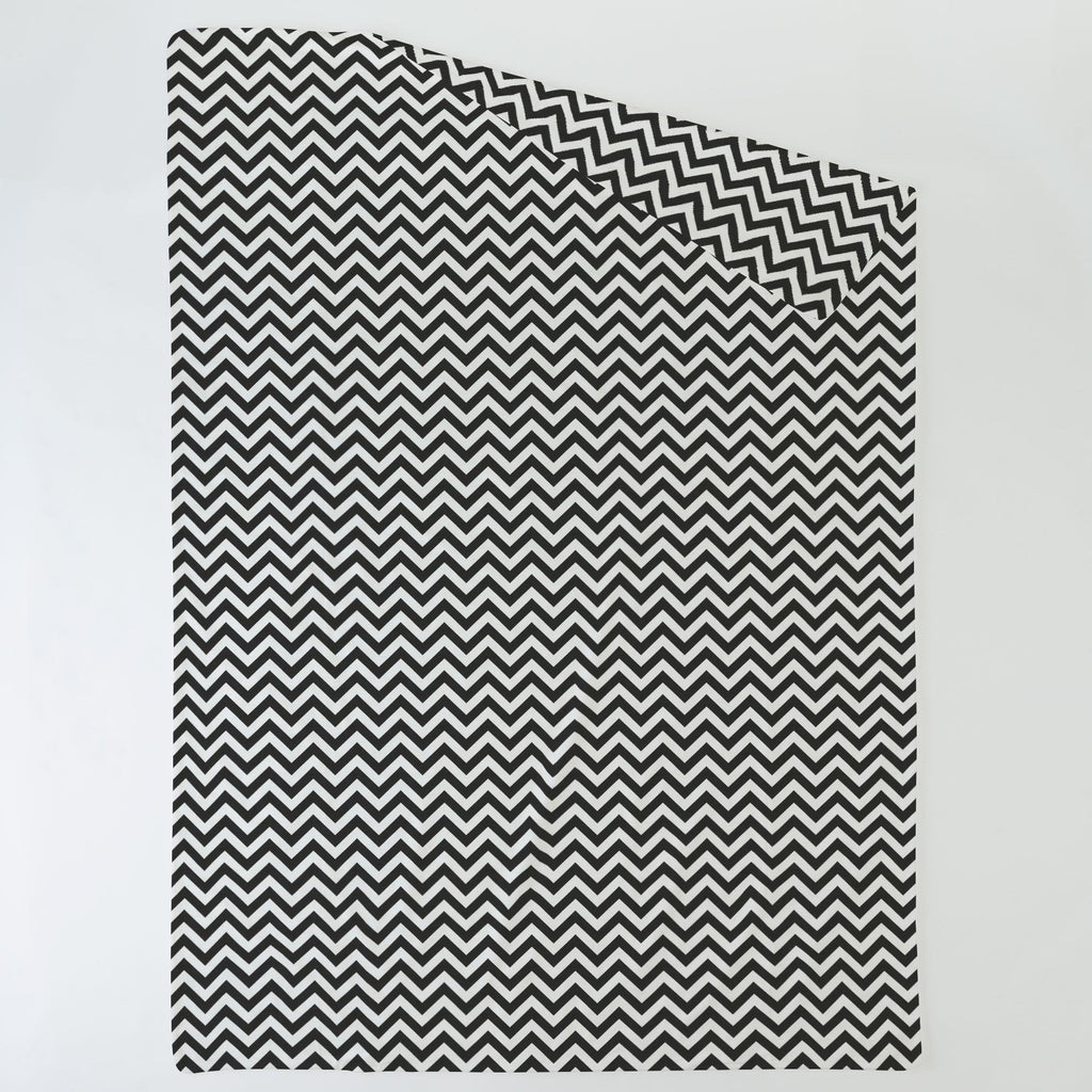 Product image for Black and White Zig Zag Duvet Cover