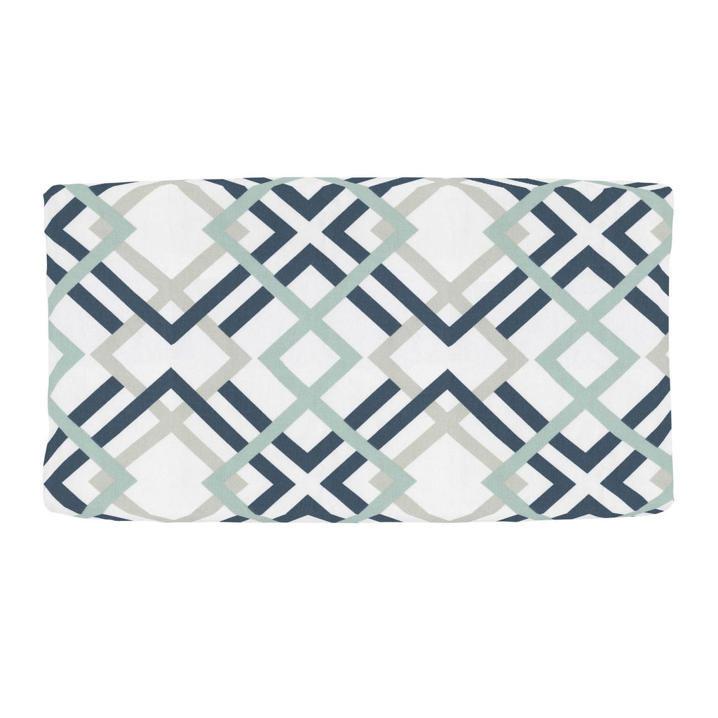 Product image for Navy and Gray Geometric Changing Pad Cover