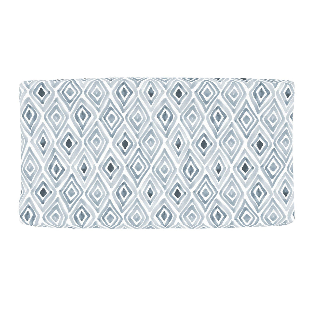 Product image for Steel Blue Painted Diamond Changing Pad Cover