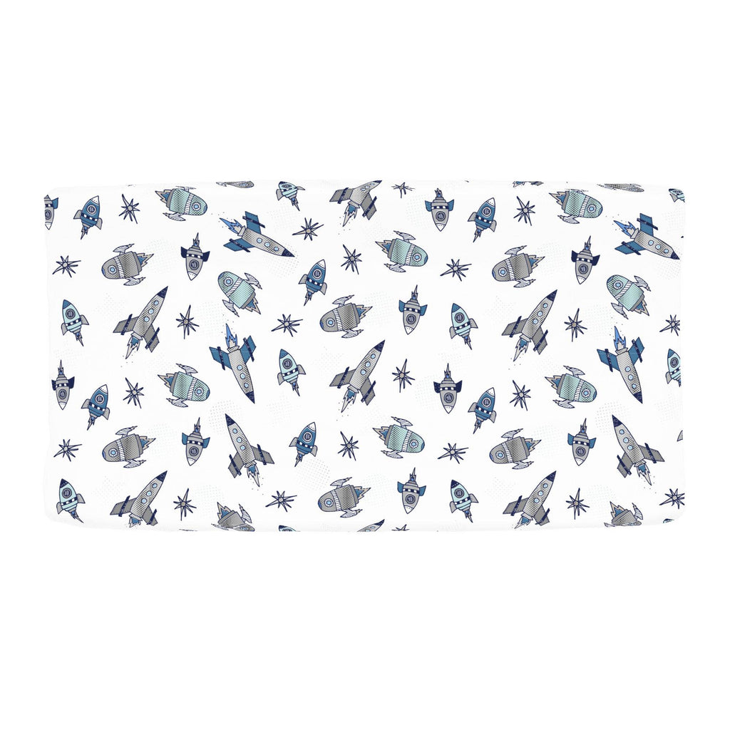 Product image for Navy Retro Rockets Changing Pad Cover