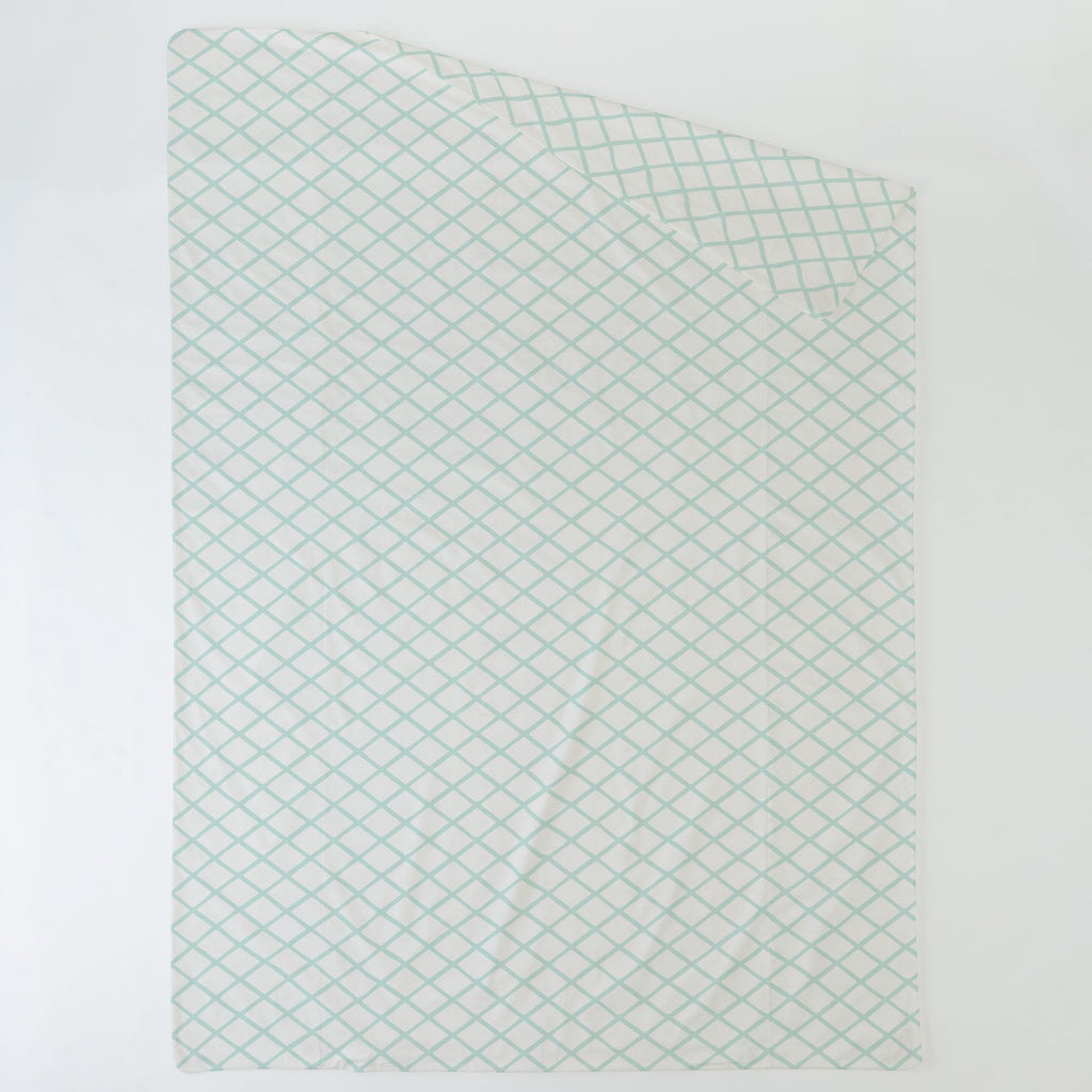 Product image for Icy Mint Trellis Duvet Cover