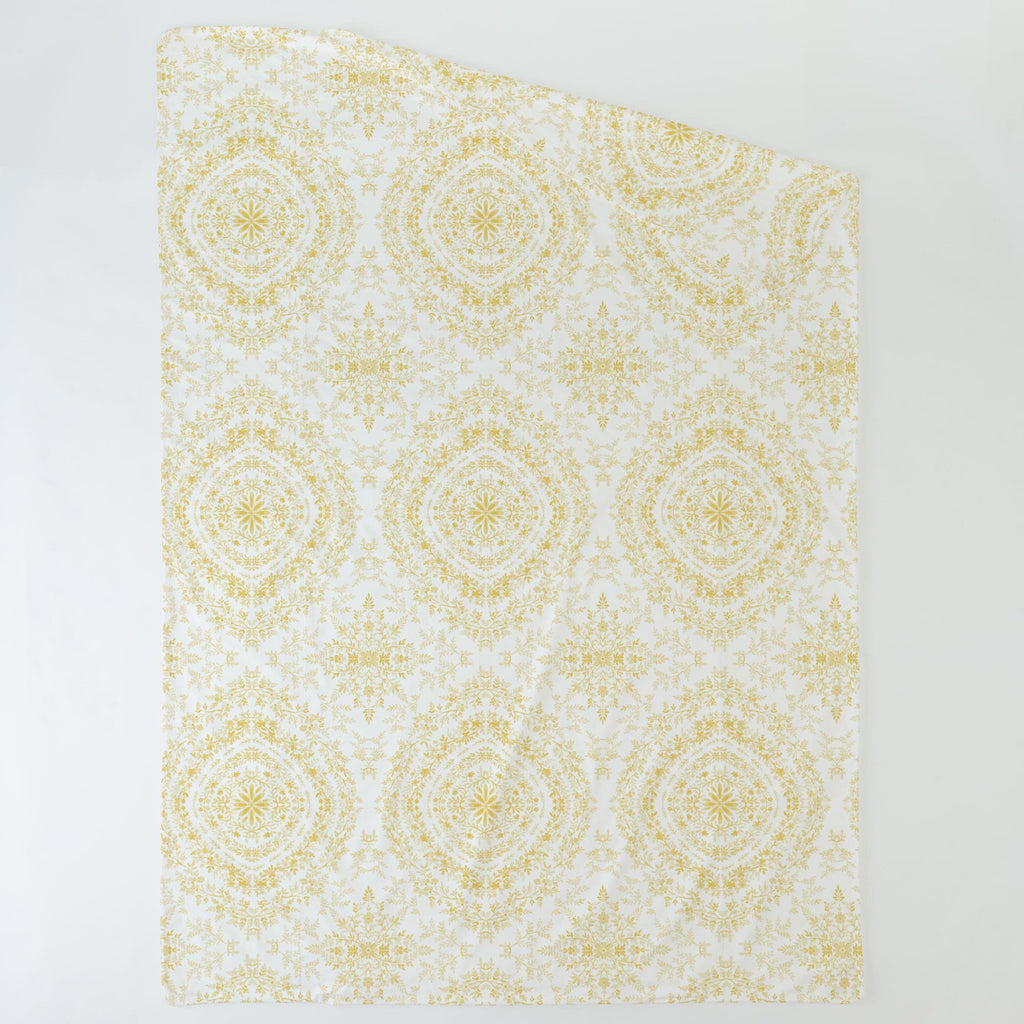 Product image for Yellow Floral Damask Duvet Cover