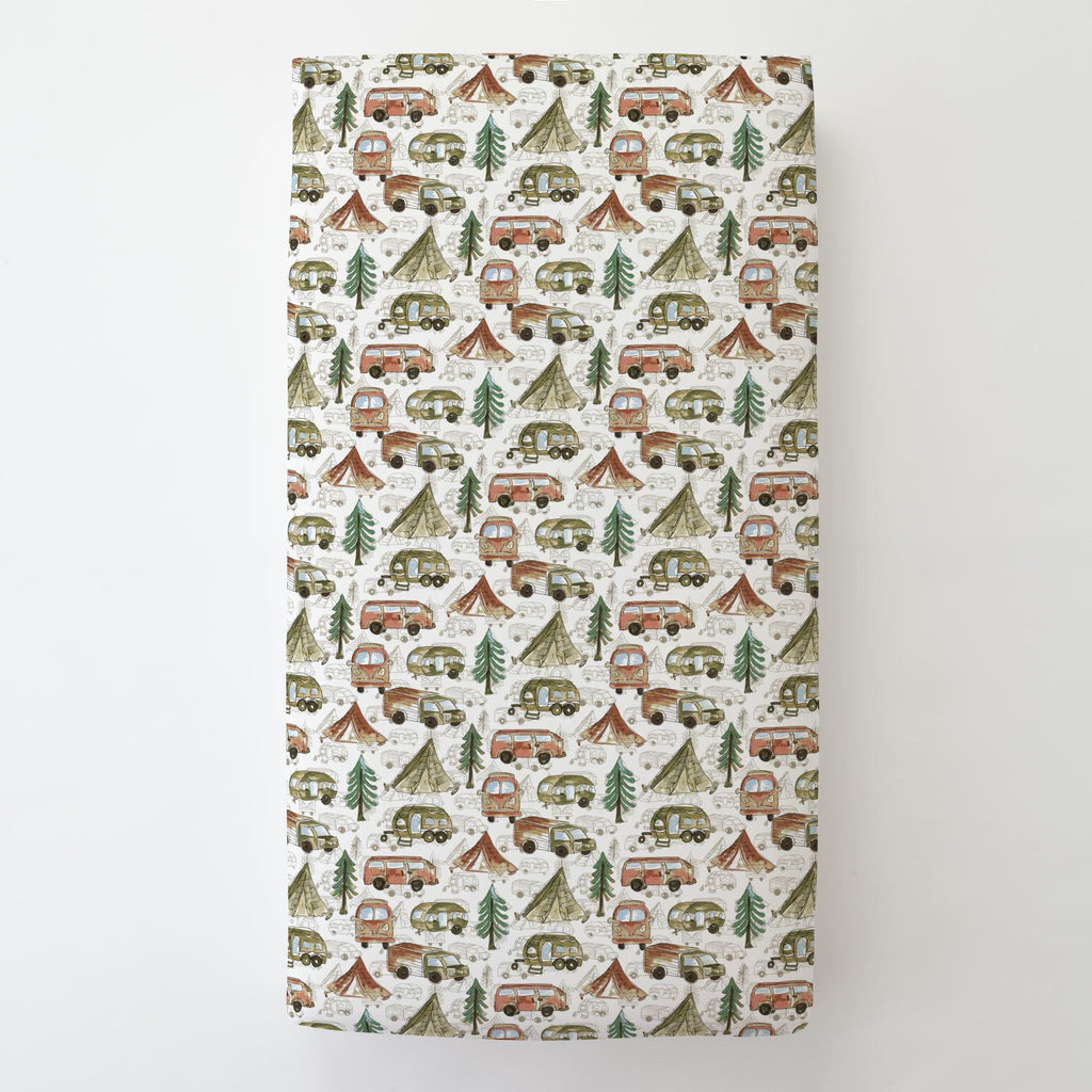 Product image for Gone Camping Toddler Sheet Bottom Fitted