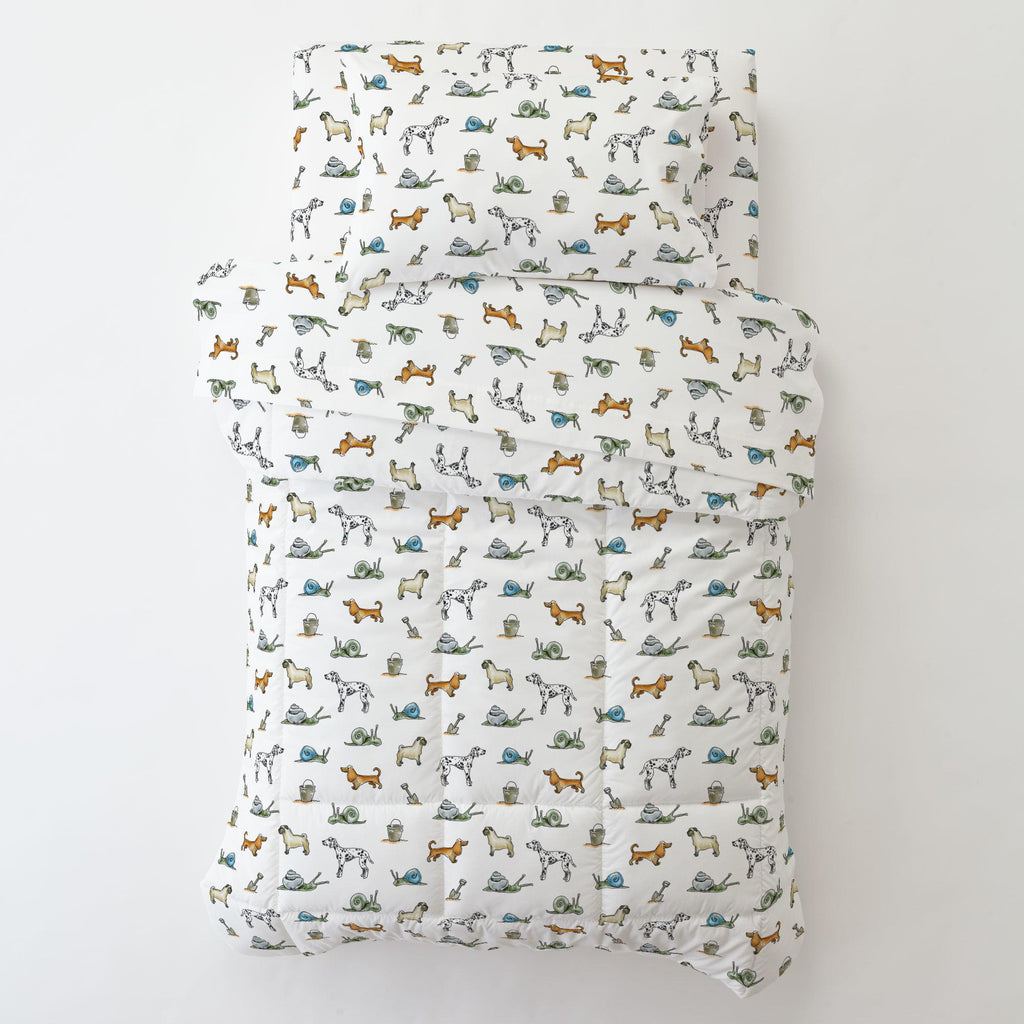Product image for Snails and Tails Toddler Pillow Case with Pillow Insert