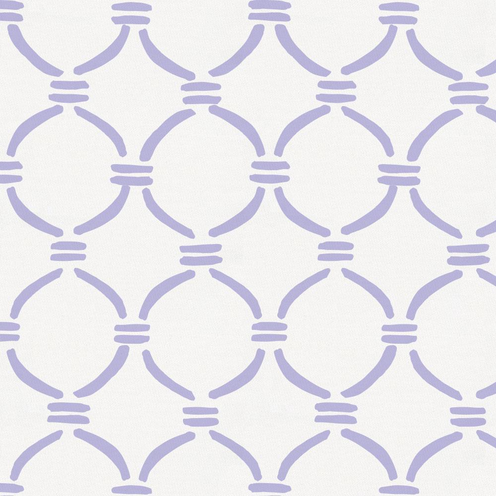 Product image for Lilac Lattice Circles Throw Pillow