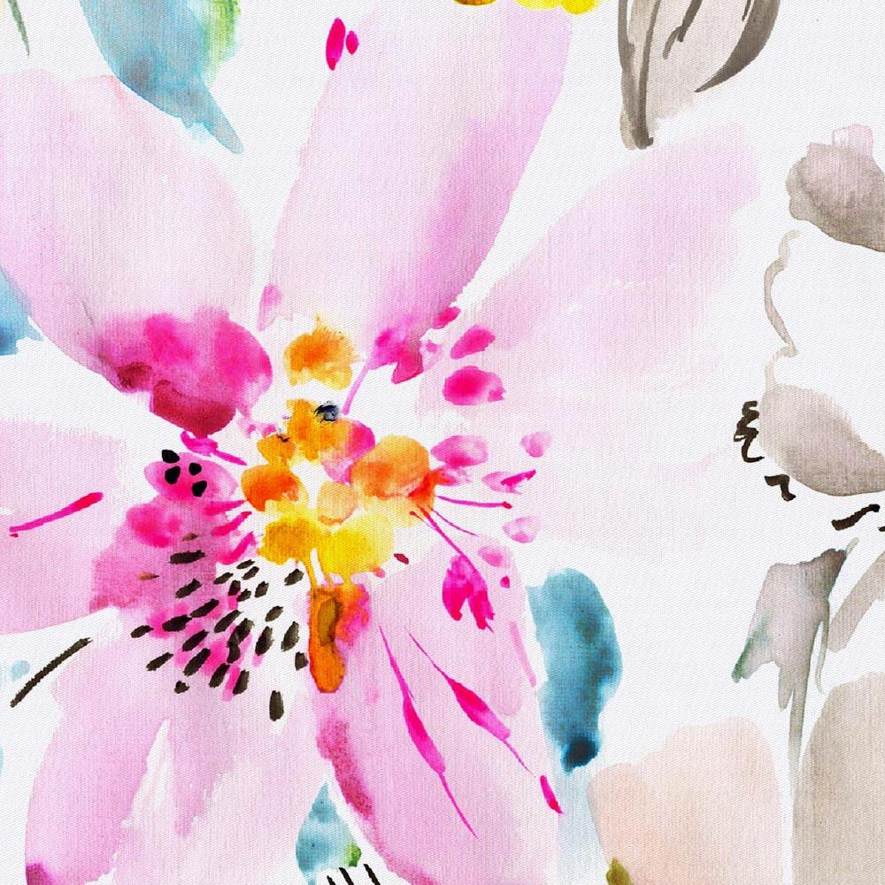 Product image for Watercolor Floral Drape Panel