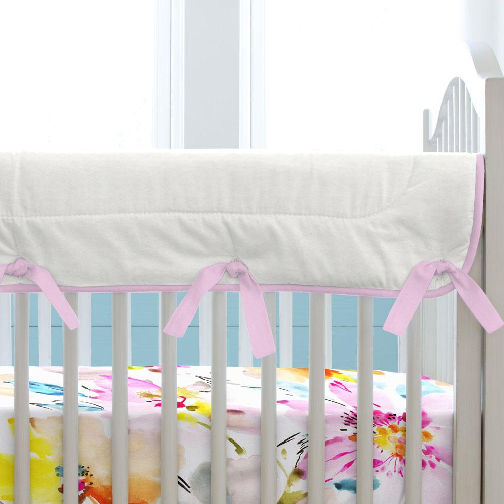 Product image for Orchid and Antique White Crib Rail Cover